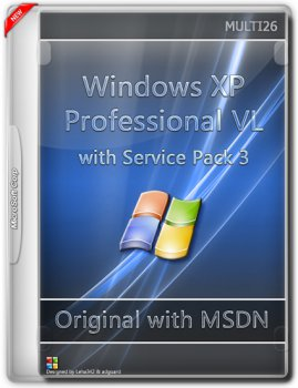 Microsoft Windows XP Professional VL with Service Pack 3 - Оригинальные образы от Microsoft MSDN [Multi/Ru] (26хCD)